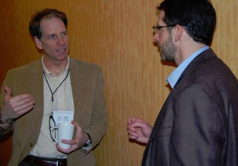 John Hagan of the Manomet Center for Conservation Sciences with Kresge Foundation's John Nordgren