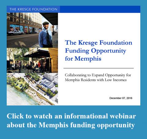 Memphis Funding Opportunity webinar link