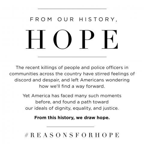 #ReasonsForHope Philanthropy Ad