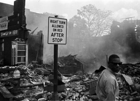 Devastation of Detroit '67 rebellion