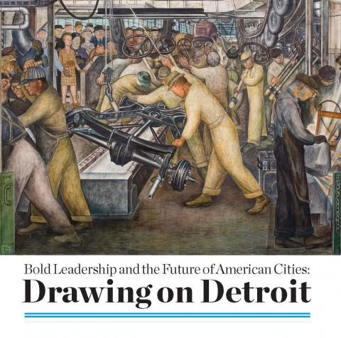 The cover image for SSIR Drawing on Detroit