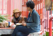 Community Members at Vendy Plaza in Harlem