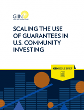Cover of Scaling the use of Guarantees in U.S. Community Investment