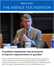 Cover of Kresge newsletter, Aug. 11, 2016