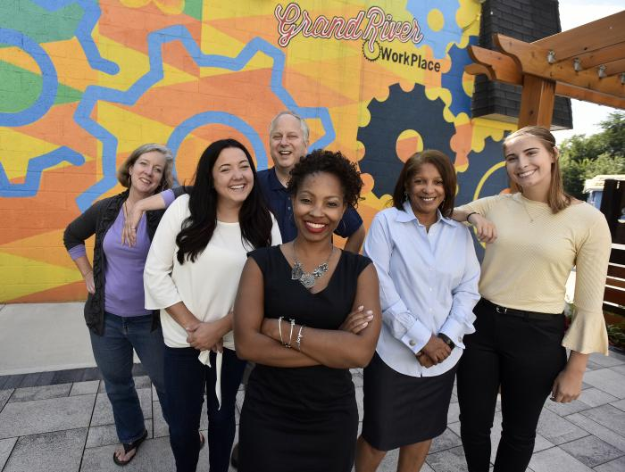 Sherita Smith of Grandmont Rosedale Development Corp. and her staff