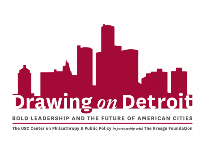 Drawing on Detroit conference logo