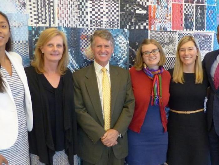 Kresge President Rip Rapson with the foundation's 2016 summer interns