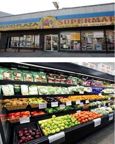 An existing store, Food Plaza, is a model site for Newark's efforts to expand healthy foods.
