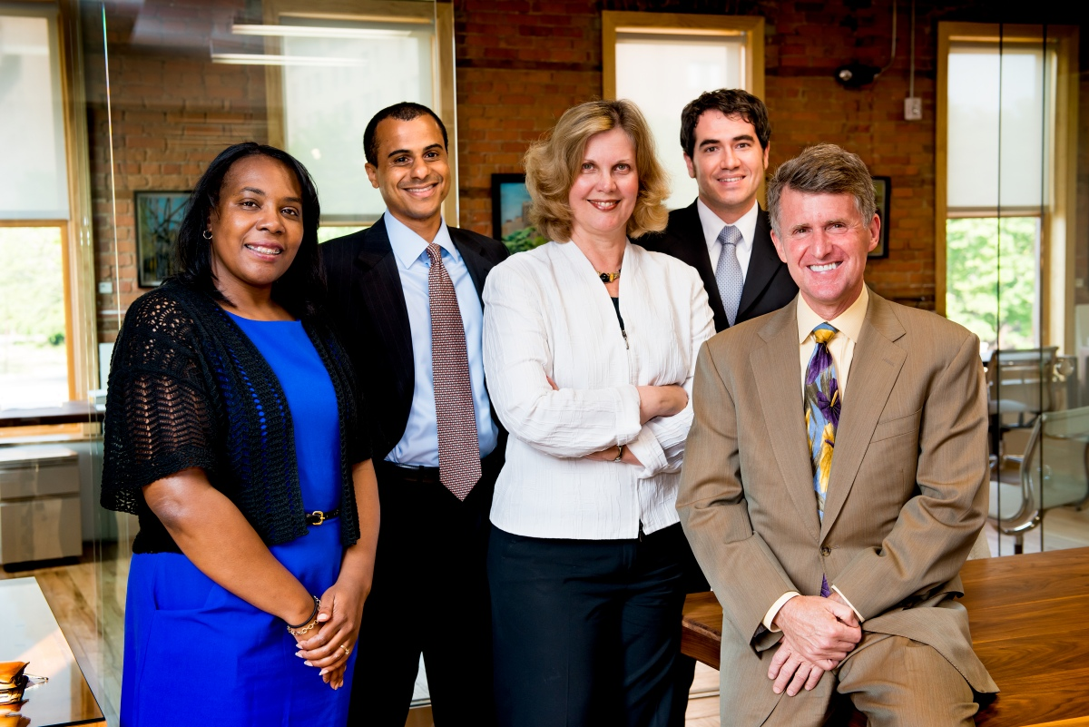Kresge's Detroit Program staff includes Wendy Jackson, Benjy Kennedy, Laura Trudeau, and George Jacobsen, pictured here with Rip Rapson, president and CEO.