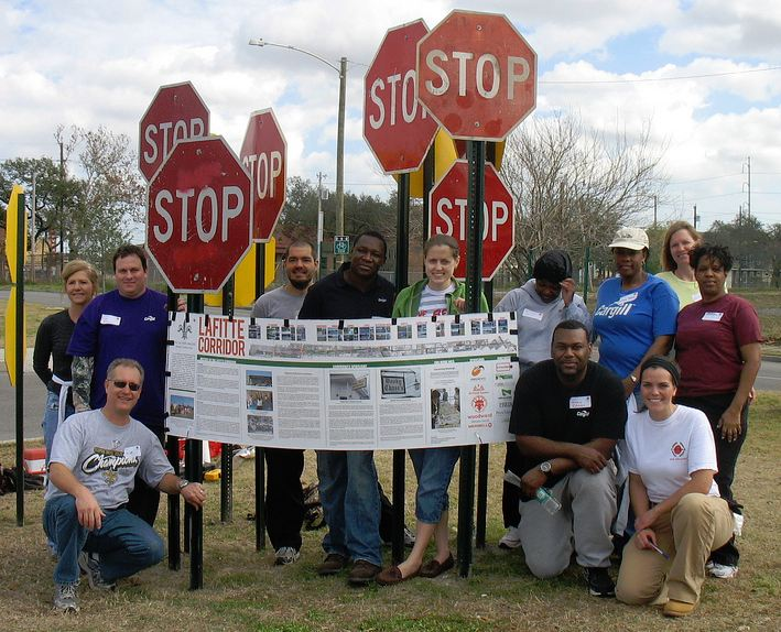 In New Orleans, the Friends of the Lafitte Corridor have mobilized community involvement in the development of a 3.1-mile right-of-way into a greenway of public space and trails, connecting nine historical districts between the Tremé and Lakeview neighborhoods.