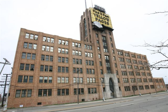 Built in 1929 and 1930, the 12-story Art Deco-style Michigan Bell and Western Electric Warehouse is located at 882 Oakman Blvd., between Detroit and Highland Park.