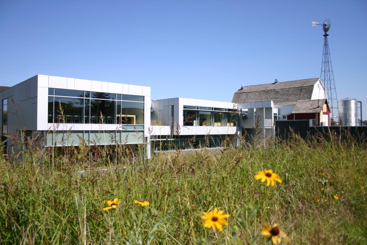 Kresge's headquarters integrates modern offices into a 19th-century farm setting.