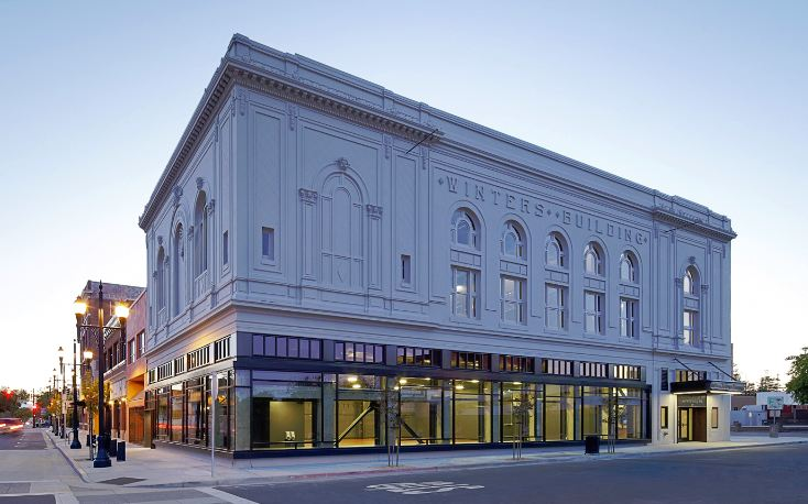 The renovated Winter Building, above, is home to the East Bay Center for the Performing Arts.