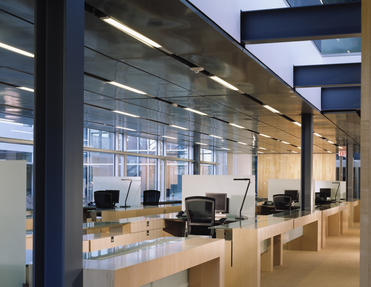 Workspaces on the ground floor.