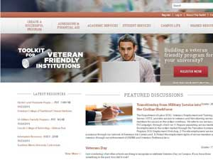 American Council on Education's website for 'veteran-friendly' colleges and universities.