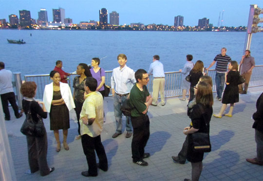 Candidates for the fellowship program also spent time on the riverfront.