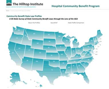 The online tool at Hilltop's website spells out community-benefits requirements in each state.
