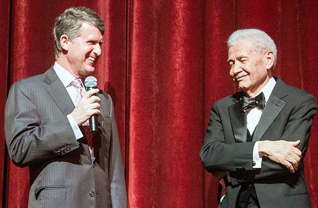 Kresge Foundation CEO Rip Rapson and 2013 Eminent Artist David DiChiera at the Detroit Opera House.