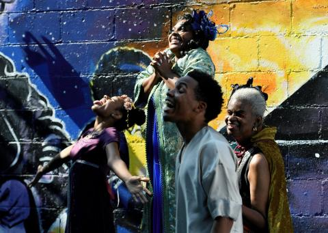 Sidewalk Festival of the arts presents Black and Brown Theater.