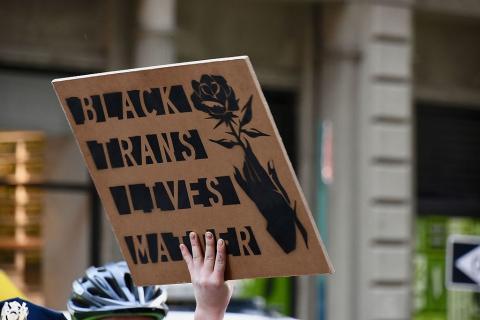 Black Trans Lives Matter sign