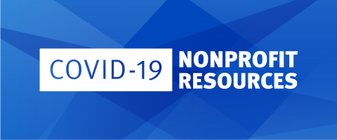 COVID-19 nonprofit resources graphic
