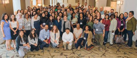 Attendees at the 2017 Climate Resilience and Urban Opportunity Initiative grantee convening