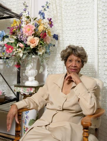 Delores Brown in her Hartford Village apartment