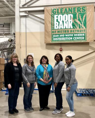Kresge staff members volunteer at Gleaners Food Bank