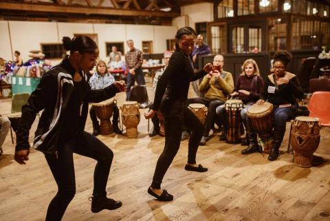 Heritage Works drum circle