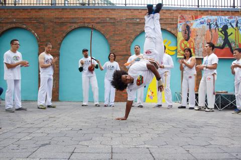 Youth capoeira performance funded on ioby.org.