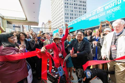 Ribbon-cutting for QLine