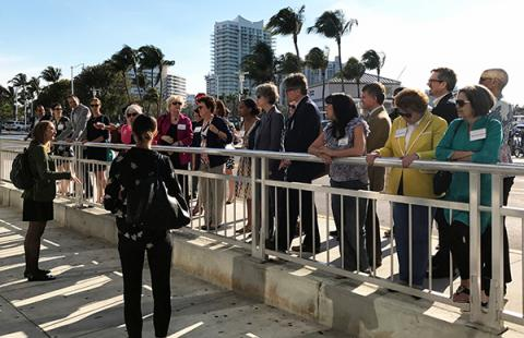 Members of Kresge's board and staff hear about effects of climate change in Miami Beach