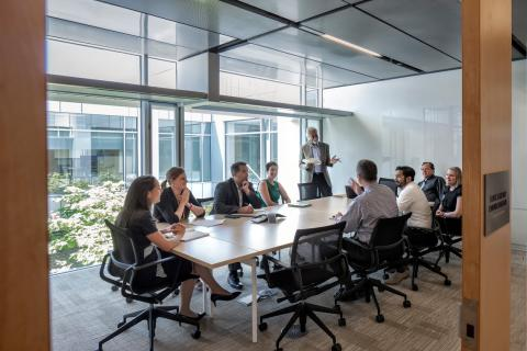 An image of Kresge Foundation employees convening in an office