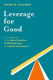 """Leverage for Good"" book cover"