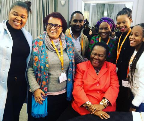 South African Minister of Higher Education and Training Naledi Pandor with leaders at the 2018 Siyaphumelela Conference.