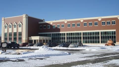 Front of health center building