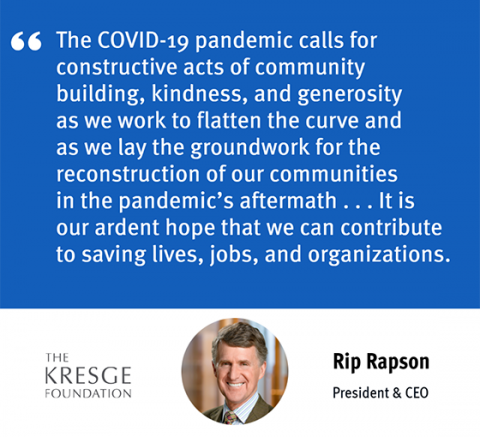 Rip Rapson quote on COVID-19 pandemic funding