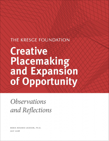 "Cover of Kresge white paper ""Creative Placemaking and Expansion of Opportunity"""