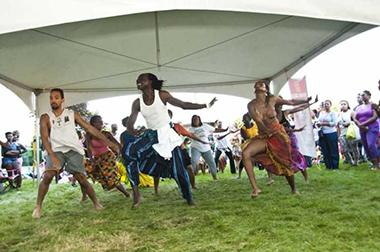 African dancers at a festival