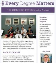 Education newsletter August 2018