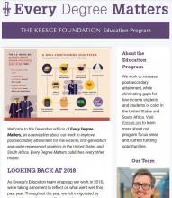 Education newsletter Dec 2018