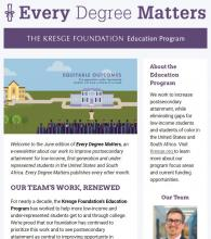 Education newsletter June 2018