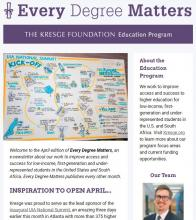 Education newsletter April  2018