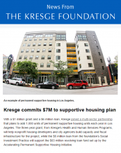 Cover of Kresge newsletter, Sept. 22, 2016