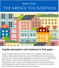 News From The Kresge Foundation Volume 1, Issue 12 (September 8, 2016)