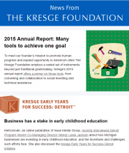 Thumbnail image of News from Kresge 7-28-2016