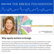 News From Kresge 8-9-2018 thumbnail image