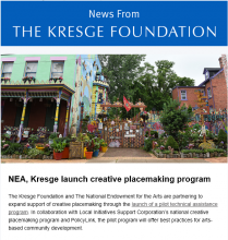 Cover of Kresge newsletter, Oct. 6, 2016