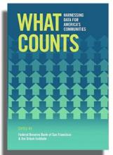 """What Counts: Harnessing Data for America's Communities"" book cover"