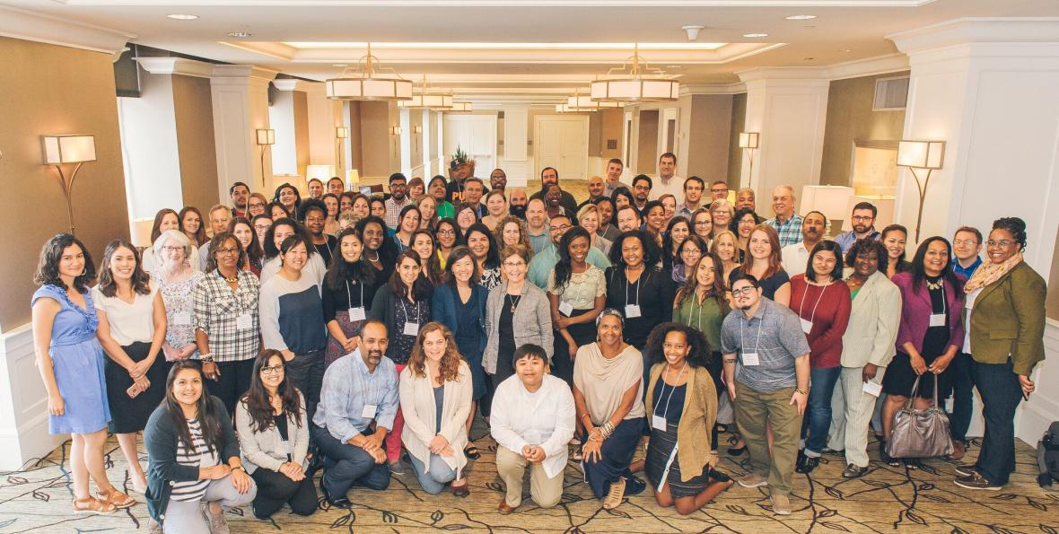 Group shot of Kresge CRUO climate change convening in Detroit